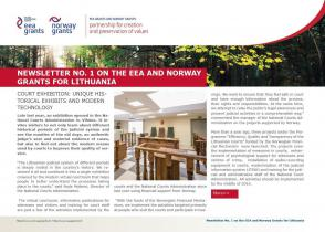 1 Newsletter about the EEA and Norway Grants