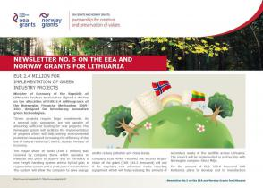 5 Newsletter about the EEA and Norway Grants