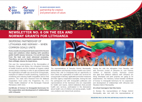 6 Newsletter about the EEA and Norway Grants