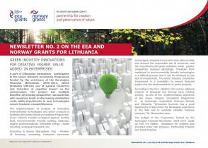 2 Newsletter about the EEA and Norway Grants